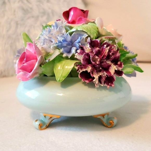 Vintage Royal Adderley Floral Bone China Rare Flowers on Book Design